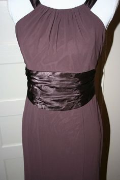 a518db9022 Formal bridesmaid s dress chocolate brown long David s Bridal 8 EUC  afflink