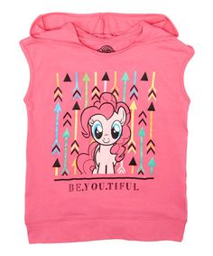 Loving this Hot Pink Pinky Pie 'Be.You.Tiful' Hooded Tank - Girls on #zulily! #zulilyfinds