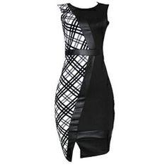 Innocent Black/White Ladies Armless Dress