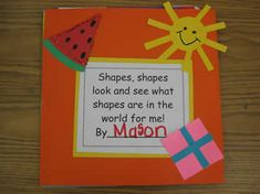 Cute shape book you can make with your students from kinderbykim.com