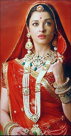 Bridal Outfits by Neeta Lulla. If you have ever wondered the designer behind Aishwarya Rai's gorgeous outfits in Jodha Akbar, its none other than Neeta Aishwarya Rai Jodha Akbar, Jodhaa Akbar, Saris, Indian Dresses, Indian Outfits, Indian Clothes, Pakistani Dresses, Neeta Lulla, Beauty And Fashion
