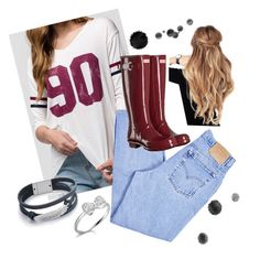 Rainy days by pipersd on Polyvore featuring polyvore, fashion, style, Full Tilt, Levi's, Hunter and clothing