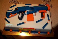 nerf guns cake