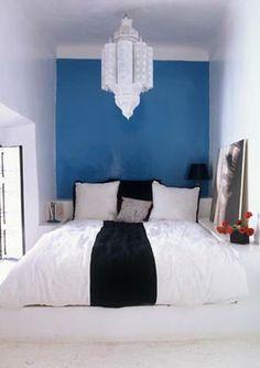 moroccan blue &  white filigree lantern
