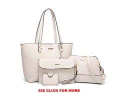 Womens Large Designer Castella Faux Leather School Uni Shoulder Handbag Beige UK
