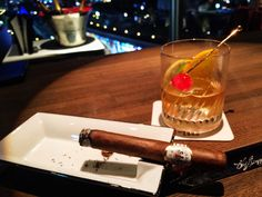 Old fashion and cigar