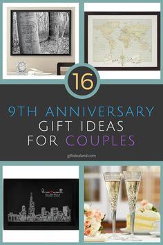 9th Wedding Anniversary Gift Ideas Wife : Then and Now Anniversary Frame 50th Anniversary Party-Mom & Dad ...