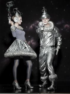 Stephen and me in our spacesuits!