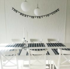 The best is yet to come - Buy it at www. Bunting Banner, Banners, The Best Is Yet To Come, Gray Interior, Lightbox, Nest, Black And Grey, Sweet Home, Inspirational Quotes