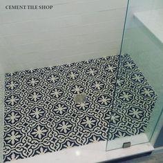 Cement Tile Encaustic Bordeaux Make The Shower Echo Entryway