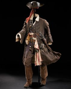 "Jack Sparrow costume from ""Pirates of the Caribbean"" - designed by Penny Rose, 2003"