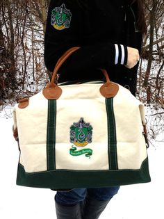 Hogwarts House Canvas Weekend Duffle Bag by FanFash on Etsy, $100.00