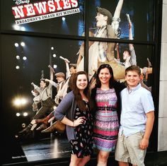 FAMILY went to see the @newsies performance at the National Theatre last night and it was fantastic!