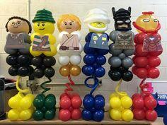 Lego balloon decoration #LEGO #balloondecofiesta