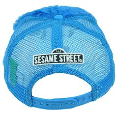 "123 Sesame Street Cookie Monster Fuzzy Tv Show Snapback Hat Cap Blue Mesh Youth   123 Sesame Street Cookie Monster Fuzzy Tv Show Snapback Hat Cap Blue Mesh Youth This cap features fuzzy Cookie Monster face on front panel. Mesh back panel features ""123 Sesame Street"" embroidered on back panel. Adjustable, snapback closure. Under visor features cookie printed. Authentic Merchandise. Officially Licensed Product.  http://www.beststreetstyle.com/123-sesame-street-cookie-monster-fuzzy-tv.."