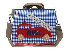 Kindergartentaschen - Kindergartenrucksack mit Namen -Feuerwehr- - ein Designerstück von wohnzwerg bei DaWanda