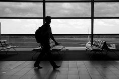 @kamplainnn ❃ black and white photography airport
