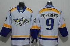 Predators #9 Filip Forsberg White Road Stitched NHL Jersey