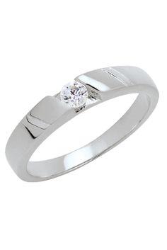 Trendy Diamond แหวนเพชร CZ ฝังหนีบเม็ดเดี่ยวขนาด 3.0 มม. - สีเงิน | LAZADA THAILAND created by #ShoppingIS