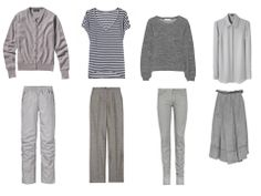 The vivienne Files. Not so crazy eights : the grays. I love this concept! I could see building one in army green for Spring, blues for Summer,  maybe taupe or camel for Fall and light greys for Winter.