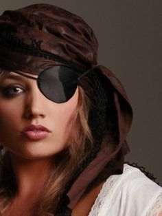 Our Black Satin Eye Patch Is A Great Accessory For Unique Pirate Look