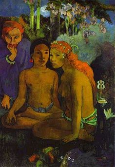Gauguin in Tahiti... I just learned the other day that Tahitians all had red hair at one point.