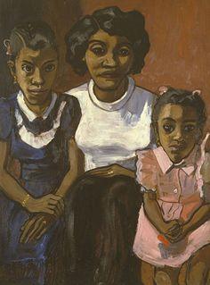 Black Spanish Family, 1950 (David Zwirner/The Estate of Alice Neel) http://www.telegraph.co.uk/culture/11144307/Dark-star-the-paintings-of-Alice-Neel.html