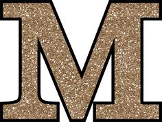 Glitter Without The Glue! Free Digital Printable Alphabet to Download: Glitter Letter M