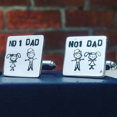 Sterling silver personalised cufflinks perfect for