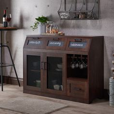 Furniture Of America Wenoga Industrial Multi Storage Buffet/Server  (Chestnut Brown)