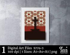 Gift for Christian, Cross Art, Digital Art Print, Digital Art Download, Digital Cross, Printable Art, Digital Print, Cross Art Print, Cross Home Decor, Cross Decor, Jesus Wall Art, Lead Me to the Cross, Christian Wall Art, Cross Decoration .....................................................................................................................   YOU WILL RECEIVE: > 3 PNG files of Digital Cross Art > Sizes: A5 (5.84X8.27 inch), 1752X2480 pixels  A4 (8.27X11.69 inch), 2480X3508…