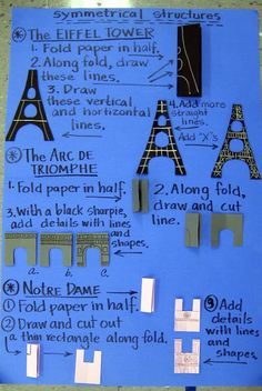 Here's a terrific idea for making paper models of symmetrical structures.
