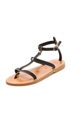 5991e20f4fed2 K. Jacques Gina Flat Sandals Flat Sandals