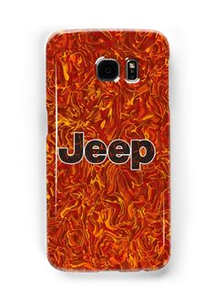 Lava Jeep typograph Samsung Galaxy Cases & Skins #samsung #Accessories #Case #cover #CellPhone #hardcover #hardcase  #jeep #toyota #landrover #hardtop #bigfoot #car #vehicle #tank #nerd #geek #funny #cool #fandom #steampunk #retro #vintage # stainless #steel #iron #chrome #lava #pattern #red #orange