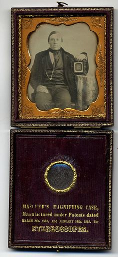Man Holding Daguerreotype Portrait of a Woman Date: 1855–60 Medium: Daguerreotype