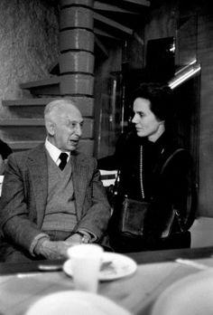 André Kertész et Martine Franck. Photograph by Yvette Troispoux