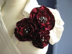 broche de la flor de tela  ramillete de floración de luxe