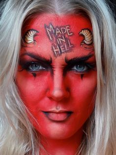 Halloween Easy Devil Face | Events | Pinterest | Halloween ideas ...