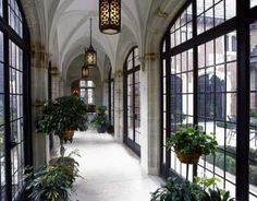 Arched iron windows and doors