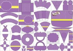 Gold and Purple Free Printable Kit.