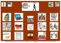 Adaptación del tablero de comunicación de ARASAAC.  http://informaticaparaeducacionespecial.blogspot.fr/p/tableros-de-comunicacion.html