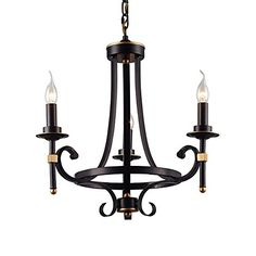 LNC Antique 3-light Black Iron Chandelier Candle Light Lighting ( Bulb Not Included ) LNC http://www.amazon.com/dp/B018K8GYHG/ref=cm_sw_r_pi_dp_9LAWwb1K1BYBA