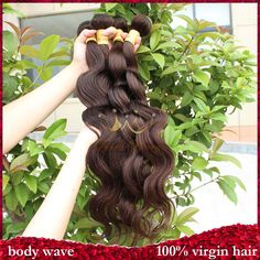 Unprocessed grade 5a 4pcs lot color2# dark brown human hair extensions queen weave beauty brazilian virign human hair body wave $99.20 - 206.17