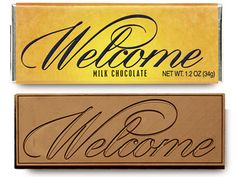 Welcome Chocolate Wrapper Bar