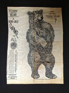 Rare Antique Teddy Roosevelt Campaign Broadside Bandana --