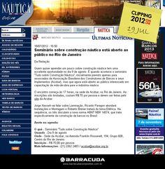::Náutica Online::  Seminário sobre construção náutica  Acesse o link da matéria   http://www.nautica.com.br/noticias/viewnews.php?nid=ult4e8383a40471919dacae4ef27dd6d583