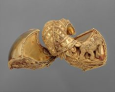 Date: ca. 1st century B.C. Medium: Gold One from a Pair of Royal Earrings | India | The Met