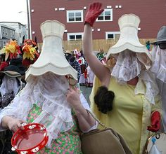 The annual Mummers Festival held in St. John's aims to revive the many different traditions associated with mummering all across the province, and to adapt them for modern-day Newfoundland and Labrador.