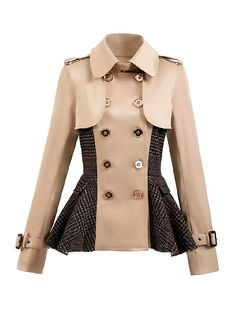 Short Coat With Wool Pelpum | Choies