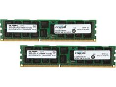 Crucial 32GB (2 x 16GB) 240-Pin DDR3 Sdram DDR3 1866 (PC3 14900) Server Memory Model CT2K16G3ERSDD4186D